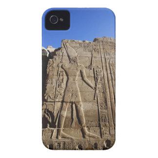 Jeroglíficos antiguos en la pared, templo de carcasa para iPhone 4