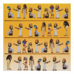 Jeroglíficos de Egipto Impresiones