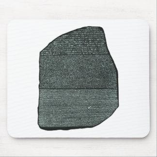 Jeroglíficos egipcios antiguos de la piedra de alfombrilla de ratones