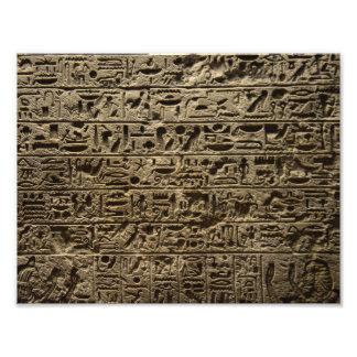 jeroglíficos egipcios antiguos fotografía