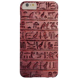 Jeroglíficos egipcios antiguos rojos funda barely there iPhone 6 plus