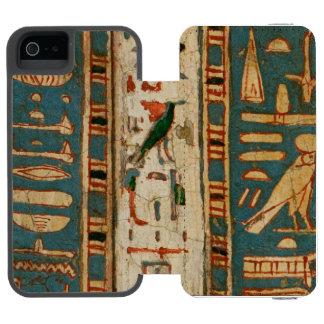 Jeroglíficos egipcios funda billetera para iPhone 5 watson