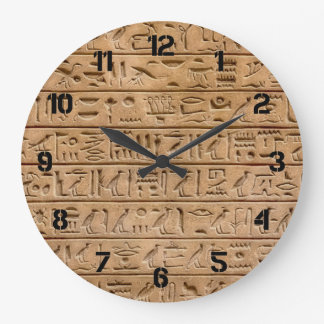 Jeroglíficos egipcios reloj redondo grande