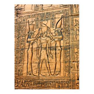 Jeroglíficos en el templo de Edfu, Egipto Postales