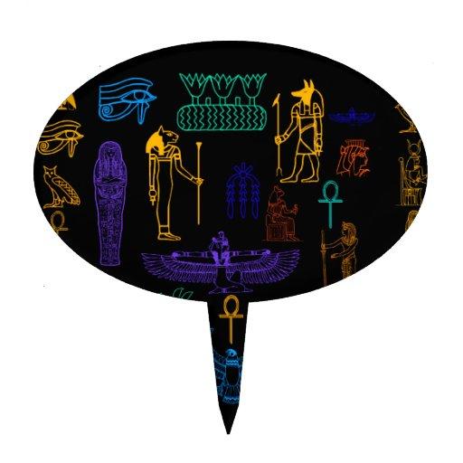 Jeroglíficos y símbolos egipcios antiguos figura para tarta