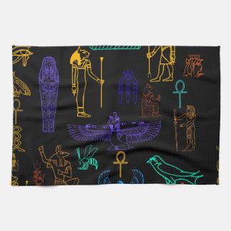 Jeroglíficos y símbolos egipcios antiguos toalla