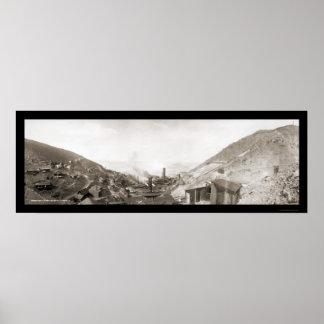 Jerome AZ Mine Smelter Photo 1902 Poster