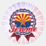 Jerome, AZ Pegatina Redonda