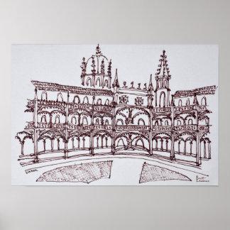 Jeronimos Monastery Cloister | Lisbon, Portugal Poster