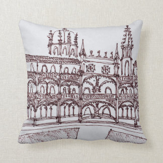 Jeronimos Monastery Cloister | Lisbon, Portugal Throw Pillow