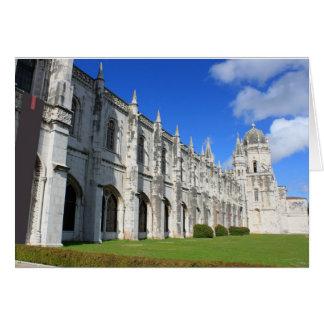 Jeronimos Monastery in Belem, Lisbon, Portugal Card
