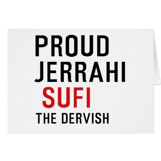 Jerrahi orgulloso Sufi Felicitacion