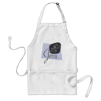 Jerry Black and Blue Script Adult Apron