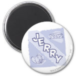 Jerry Blue Cheese Logo 2 Inch Round Magnet