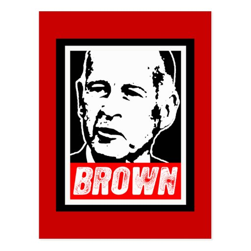 JERRY BROWN 2010 POSTCARD
