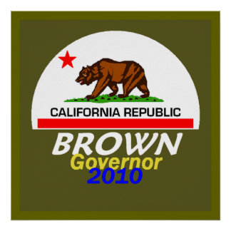 Jerry BROWN 2010 POSTER Print