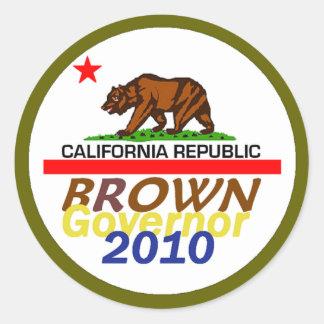 Jerry BROWN 2010 Sticker