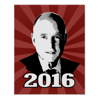 JERRY BROWN 2016 Candidate Poster