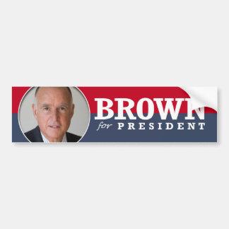 JERRY BROWN 2016 CAR BUMPER STICKER