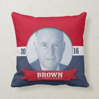 JERRY BROWN 2016 THROW PILLOW