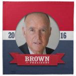 JERRY BROWN 2016 SERVILLETA IMPRIMIDA