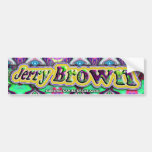 Jerry Brown bumpersticker Bumper Sticker