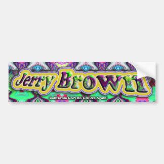 Jerry Brown bumpersticker Bumper Sticker