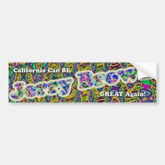 Jerry Brown bumpersticker CA GREAT AGAIN Bumper Sticker
