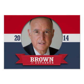 JERRY BROWN CAMPAIGN POSTER