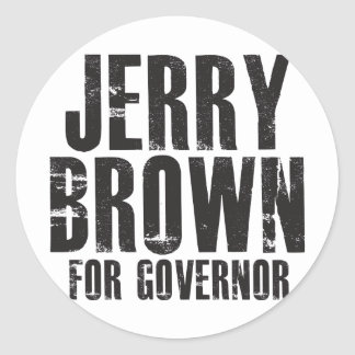 Jerry Brown For Governor 2010 Classic Round Sticker