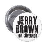 Jerry Brown For Governor 2010 Pinback Buttons