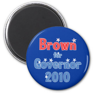 Jerry Brown for Governor 2010 Star Design 2 Inch Round Magnet