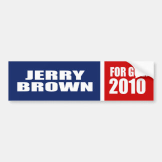 JERRY BROWN FOR GOVERNOR BUMPER STICKER
