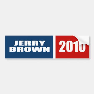 JERRY BROWN FOR GOVERNOR BUMPER STICKERS