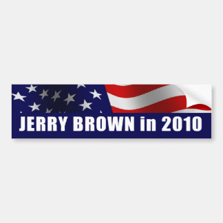 Jerry Brown for Governor California 2010 Bumper Stickers