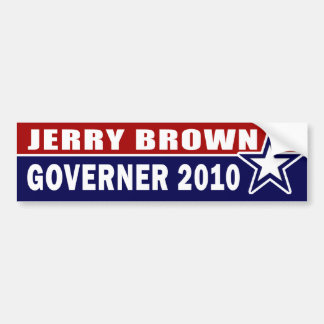 Jerry Brown for Governor California 2010 Bumper Sticker