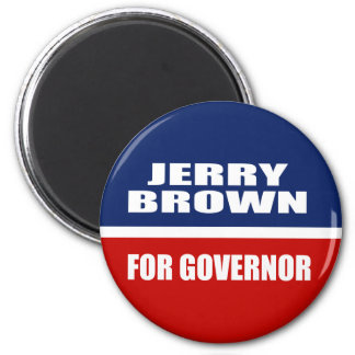 JERRY BROWN FOR GOVERNOR FRIDGE MAGNETS