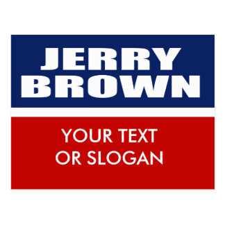 JERRY BROWN FOR GOVERNOR POSTCARD