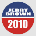 JERRY BROWN FOR GOVERNOR ROUND STICKER