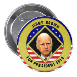 Jerry Brown for President 2016 3 Inch Round Button