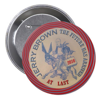 Jerry Brown for President 2016 Button