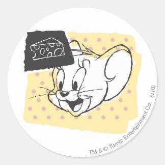 Jerry Cheese Classic Round Sticker
