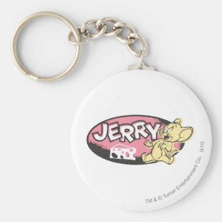 Jerry Cheese Logo Keychain