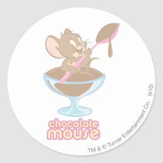 Jerry Chocolate Mouse Classic Round Sticker