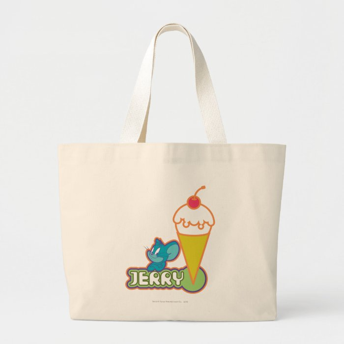 Jerry Ice Cream Large Tote Bag