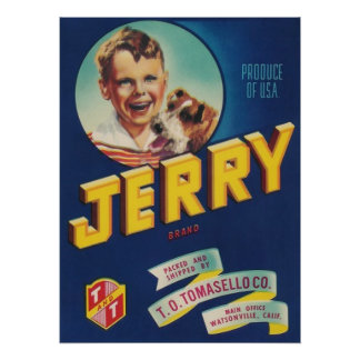 jerry label large poster