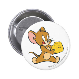 Jerry Likes His Cheese 2 Inch Round Button