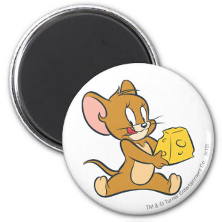 Jerry Likes His Cheese 2 Inch Round Magnet