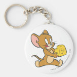 Jerry Likes His Cheese Basic Round Button Keychain
