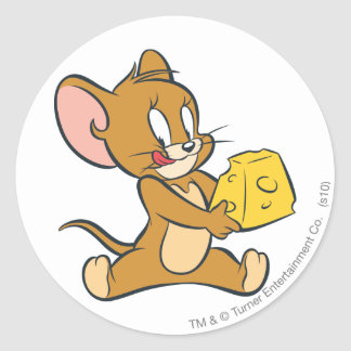 Jerry Likes His Cheese Classic Round Sticker